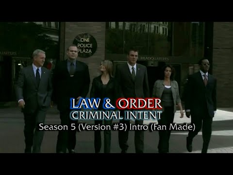 Law & Order: Criminal Intent: Season 5 (Version #3) Intro (Fan Made)