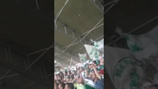 Torcida cantando no mineirao jogo da volta copa do Brasil 2017.