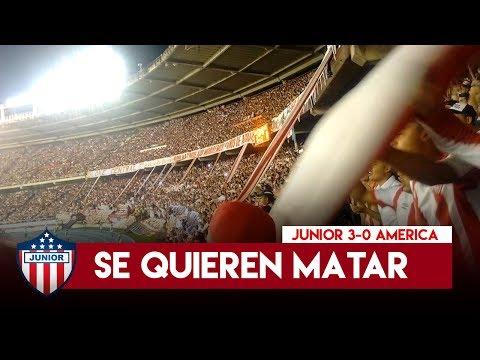 Si quieren ver fiesta - Frente Rojiblanco Sur - Junior 3-0 America 2017 - Frente Rojiblanco Sur - Junior de Barranquilla - Colombia - América del Sur