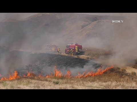 Firefighters Battle 200+ Acre Brush Fire In Moreno Valley