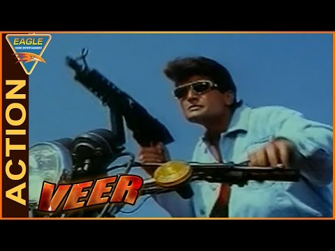 Veer Movie || Shootout Between Arman Kohli And Ishrat Ali Action || Dharmendra || Eagle Hindi Movies
