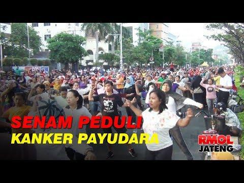 Senam Peduli Kanker Payudara di Semarang