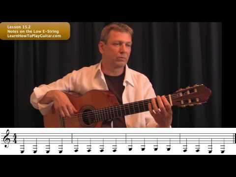 Learning Notes on Guitar: Notes on the Low E-String Lesson 15.2