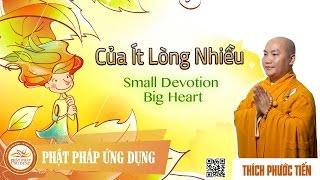Của Ít Lòng Nhiều (Small Devotion Big Heart) - English Subtitle - Thầy Thích Phước Tiến