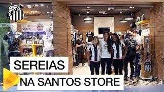 As nossas Sereias foram até Guarulhos para uma visita e uma sessão de autógrafos na Santos Store, a loja oficial do Peixe!