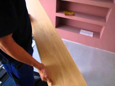Videonávod na položení plovoucí podlahy. Položení první řady - začátek - 1. díl