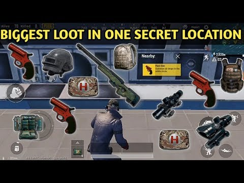 Best Secret High Loot Location In PUBG MOBILE || FLARE GUN Secret Location