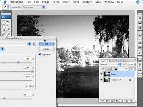 Learn Photoshop – How to Add Infrared Effect to Photos