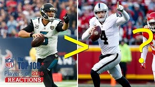 Is Blake Bortles Better Than Derek Carr? | Top 100 Players of 2016 Reaction | NFL Network by NFL Network