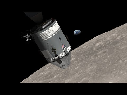 NASA re-creates the Apollo 8 Earthrise using LRO data