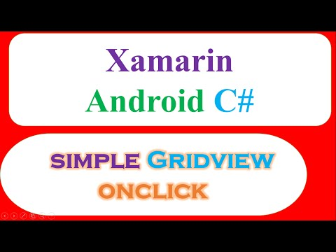 Xamarin Android – GridView and OnClick
