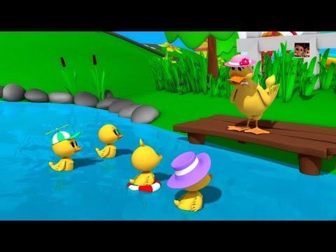 fünf kleine Enten Enten Reime für Kinder Kinderreime für Kinder Five Little Ducks Kids Rhymes