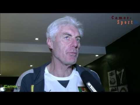 Hugo Broos le coach belge des lions indomptables au micro de camer.be