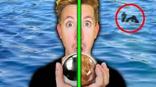 MONSTER IN POND FOUND with MIRROR POLISHED JAPANESE FOIL BALL vs SHINY DIRT BALL (EGGS)