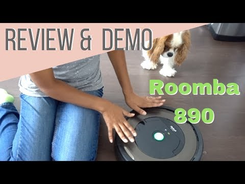 Can It Beat Dog Hair? | IRobot Roomba 890 Review & Demonstration