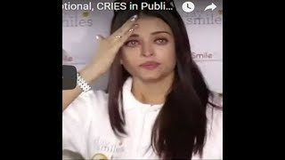Aishwarya Rai Bachchan cries after Photographers creating chaos at a charity even