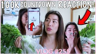 100,000  SUBSCRIBERS!!! COUNTDOWN AT ANG REAACTION KO  | GROCERY GLIMPSE + BOYS SURPRISE