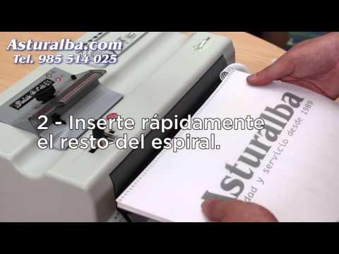 insertadora - Distribuidor de material y máquinas de oficina especializado en encuadernación. Comprar encuadernadoras e insertadoras de espiral metálico o de plástico al m...