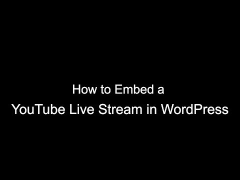 How To Embed A YouTube Live Stream In WordPress