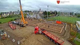Construction de la nouvelle école dans la rue du Cimetière à Strassen