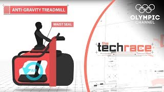 """The treadmill technology that is helping athletes train better and avoid injuries.Discover the amazing technology that takes athletes even further in the """"The Tech Race"""": http://bit.do/TechRaceENSubscribe to the official Olympic channel here: http://bit.ly/1dn6AV5"""