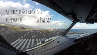 La Palma Airport (SPC GCLA) is an airport located in Breña Baja and Villa de Mazo, 8 km south of the city of Santa Cruz de La Palma on La Palma in the Canary Islands. It is operated by Aeropuertos Españoles y Navegación Aérea (AENA), who operate the majority of civil airports in Spain.The airport is served mainly by Binter Canarias and CanaryFly with island-hopping flights from Tenerife and Gran Canaria, but there are flights to the main Europe cities and charter flights from some important Europe countries as Germany, United Kingdom, Scandinavia and the Netherlands.So now you will see an approach towards runway 01. The forecast had a tempo that was not going to be in our favor. During our descent towards the airport we even received a METAR stating WS (Windshear).This airport is interesting because of a few items.Wind phenomenaBecause of the high terrain west- north west of the airport you might expect a strong windshear on short final.When hillside wind has a direction of 210 to 310 degrees and intensity is above 15KT, Approaches are not even recommended.The weatherforecast was not in our favor as mentioned before.(Tempo) Wind being 210/20G30This airport has an NDB approach.NDB approach runway 01 is 14 degrees offset and is it's preferential runway. There is also a NDB approach for runway 19 and is 19 degrees offset.Enjoy the film!All ATC and conversations are from this flight. Enjoy the view and film!Greetings,MightyMKL(Don't forget to subscribe & like!)