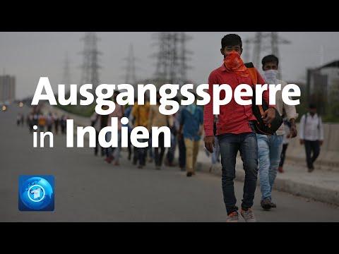 Indien: Wegen Coronavirus Ausgangssperre für 1,3 Milliarden Menschen