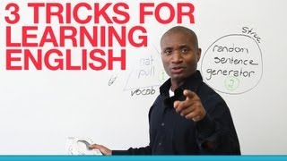 3 tricks for learning English - prepositions, vocabulary, structure
