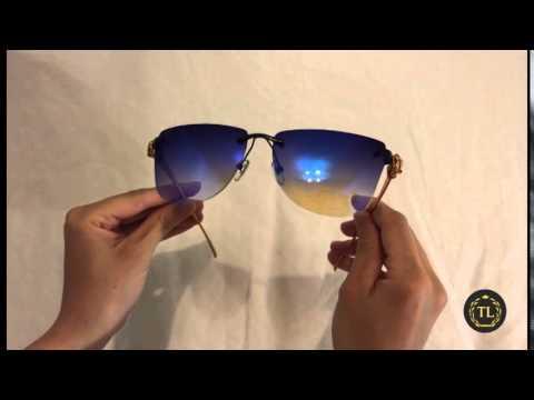 обзор солнцезащитные очки Cartier Panthere