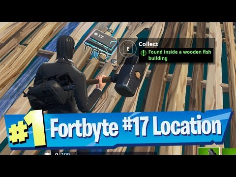 Fortnite Fortbyte #17 Location - Found inside a Wooden Fish Building