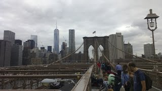 Brooklyn Bridge in New York City (opened on May 24, 1883).Time Square - https://www.youtube.com/watch?v=OM-tLjH3DuMEmpire State Building - https://www.youtube.com/watch?v=QinGmWsqIzsStatue of Liberty - https://www.youtube.com/watch?v=6g-eeU7ueF8landing in NYC - https://www.youtube.com/watch?v=aKQi8M_xFXE&t=27s22 September 2015, Sony HDR - PJ260, HD, experience, Brooklyn Bridge walk, The Empire State, The Heart of NYC, Downtown Manhattan, One World Trade Center (Freedom Tower), Statue Of Liberty, Manhattan Bridge, Chrysler Building, Rockefeller Center - Top of the Rock, East River, Brooklyn...feel free to comment, like or share :)