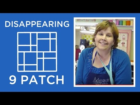 patch - http://missouriquiltco.com - Jenny shows how to make the fabulous disappearing nine patch quilt block using charm squares. To browse the best selection of ch...
