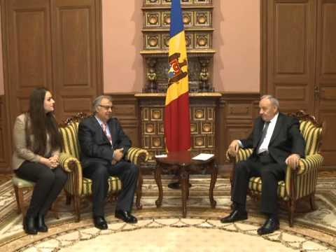 Președintele Nicolae Timofti a avut o întrevedere cu ambasadorul Republicii Islamice Pakistan, Rab Nawaz Khan