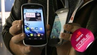 MWC 2013:бюджетные смартфоны Acer E1 и Z2
