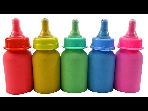 Satisfying Video l Kinetic Sand Baby Milk Bottle Cutting ASMR | Zic Zic