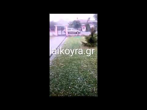 Video - Εντονη χαλαζόπτωση στην Ημαθία [βίντεο]