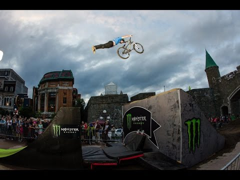 monster - An urban slopestyle mountain bike course in historic Old Quebec City created by Monster Energy's Cam Zink. Brett Rheeder took the crown this year, along with a cool Dix-Mille.