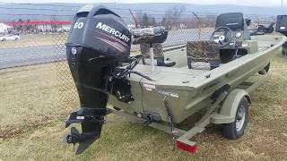 6. 2016 Grizzly Tracker 17' Boat at Beckley's Camping Center