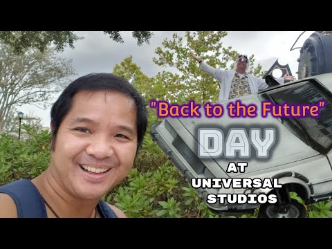 """""""Back to the Future"""" Day at Universal Studios (unofficial celebration)"""