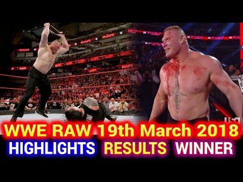 WWE Monday Night Raw 19th March 2018 Hindi Highlights - Roman Reigns | Brock Lesnar | Results Winner