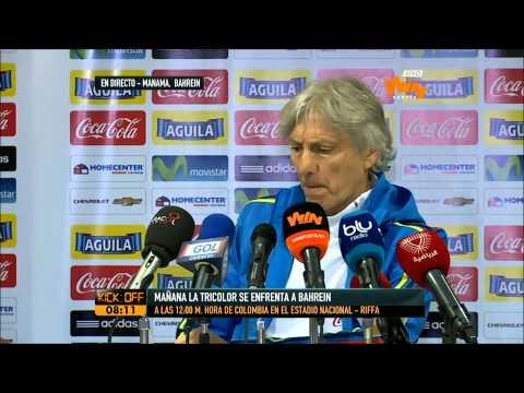 José Pékerman en rueda de prensa
