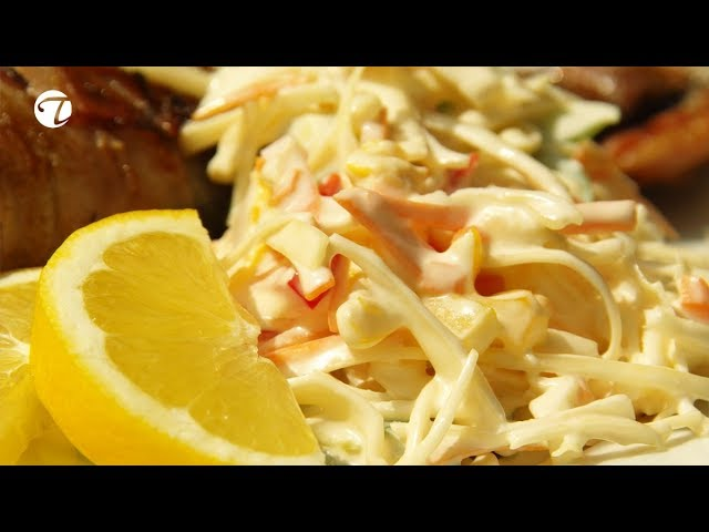 Bunter Weißkraut - Möhren - Paprika Salat   Joghurt Mayonnaise Dressing   Topfgucker-TV