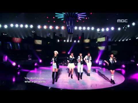 4Minute – What a girl wants, 포미닛 – 왓 어 걸 원트, Music Core 20091107