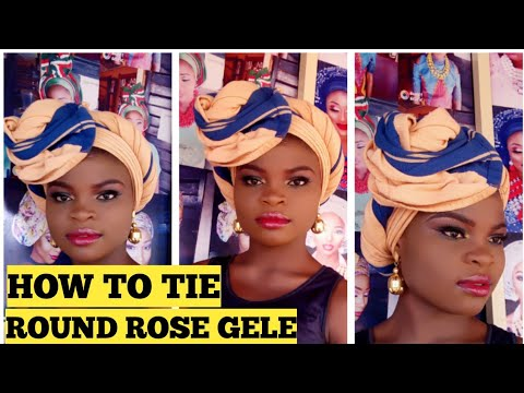 BEGINNERS/FRIENDLY HOW TO TIE ROUND ROSE GELE😱