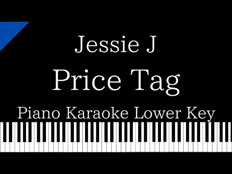 【Piano Karaoke】Price Tag / Jessie J【Lower Key】