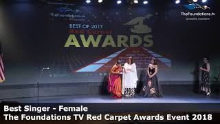 Shuchita Rao wins The Foundations TV Best Singer Female Award