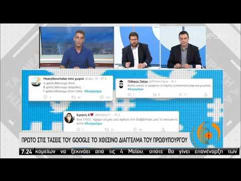 Πρώτο στις τάσεις του Google το χτεσινό διάγγελμα του Πρωθυπουργού | 29/04/2020 | ΕΡΤ