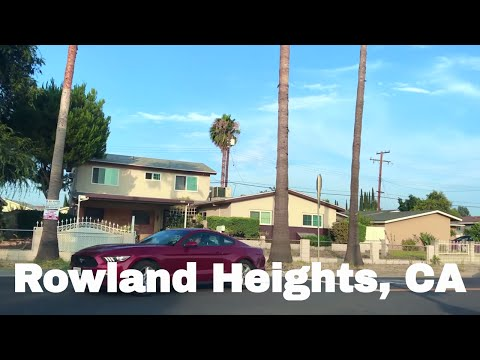 🔴  Rowland Heights Realtor Driving Tour 1080P