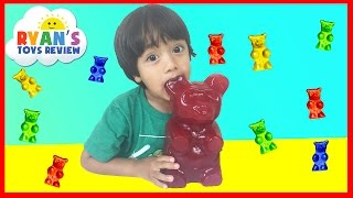 World's Largest Gummy Bear Challenge Ryan ToysReview full download video download mp3 download music download