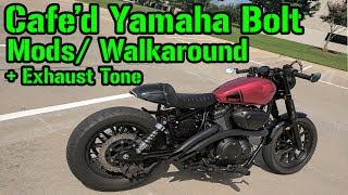 9. 2015 Cafe'd Yamaha Bolt Walkaround + Exhaust Sound